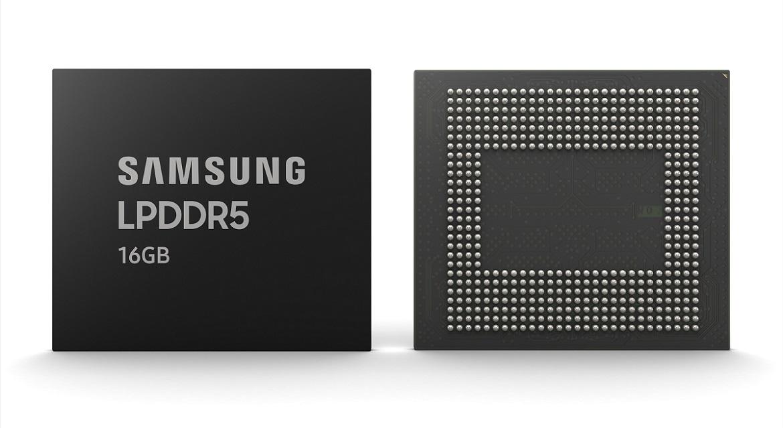 Samsung увеличила объем модулей памяти LPDDR5 DRAM до 16 Гбайт