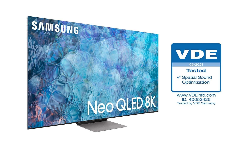 Телевизоры Samsung Neo QLED получили сертификат VDE «Оптимизация пространственного звука»